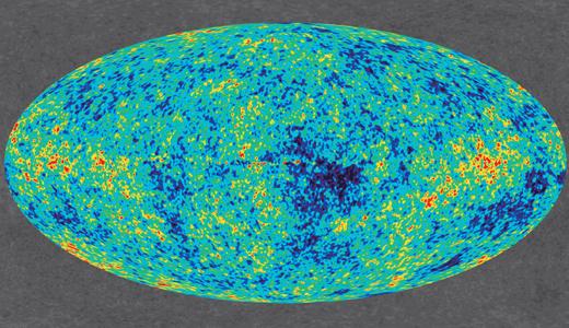 Zdjęcie WMAP przedstawiające rozkład mikrofalowego promieniowania tła