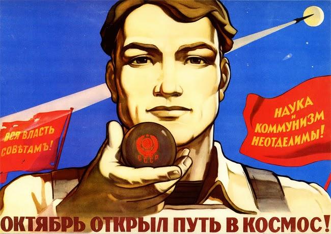 Propaganda wspierała radziecki program kosmiczny