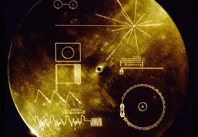 Płytka Golden Record z wiadomością dla obcych