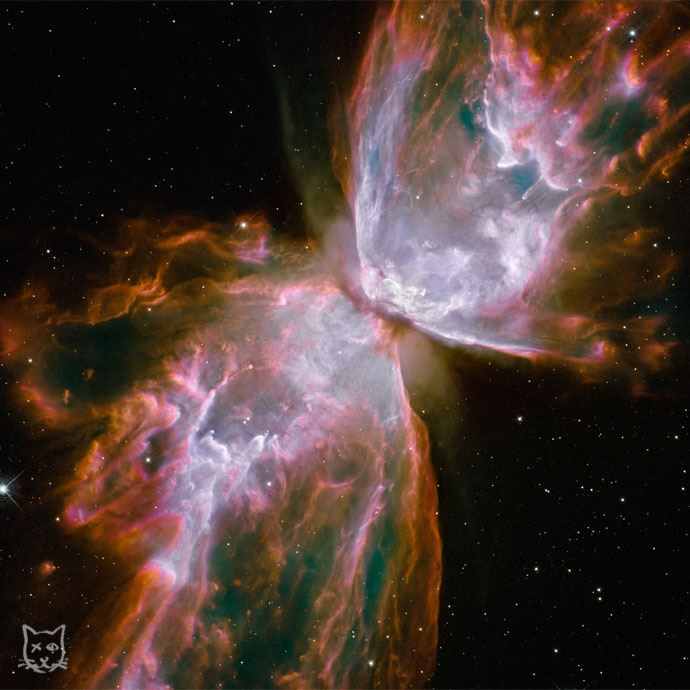Zdjęcie galaktyki Motyl wykonane przezHubble'a