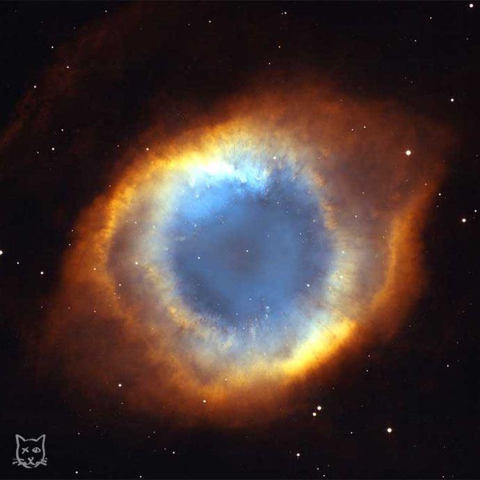 Mgławica Oko Boga wujęciu Kosmicznego Teleskopu Hubble'a