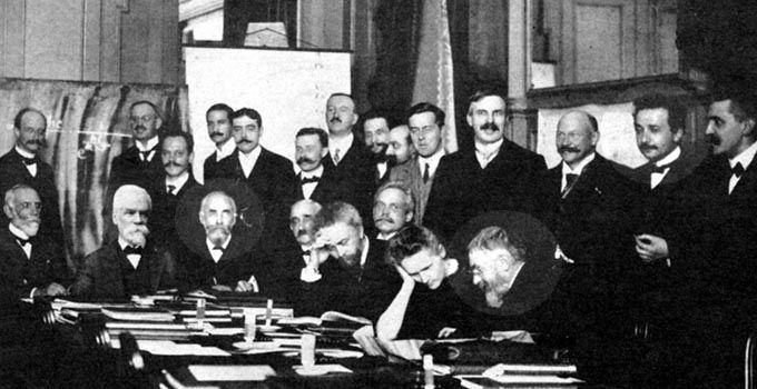 Albert Einstein naIKongresie Solvaya