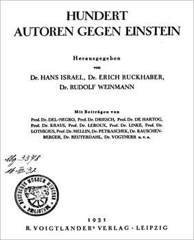 Stu autorów przeciwko Albertowi Einsteinowi