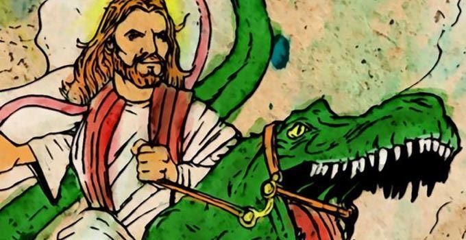 jezus dinozaur