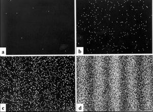 Tak wygląda ekran powystrzeleniu 8, 270, 2 tys. i160 tys. elektronów.