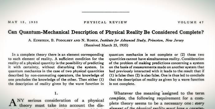 Czy opis rzeczywistości fizycznej przezmechanikę kwantową można uważać zapełny