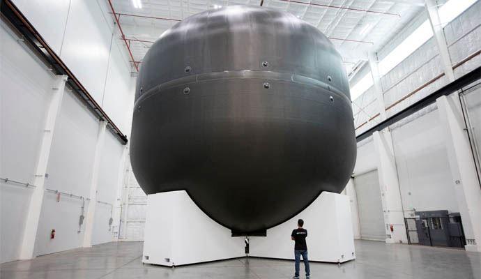 A takbędzie wyglądał zbiornik pierwszego członu rakiety.