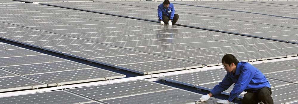 Chińskie elektrownie słoneczne