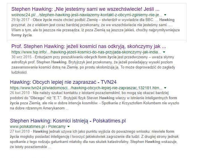 Stephen Hawking i kosmici