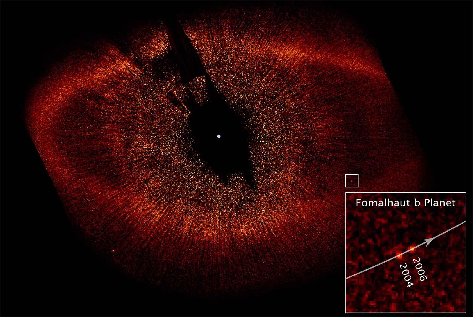 Zdjęcie planety pozasłonecznej Fomalhaut b