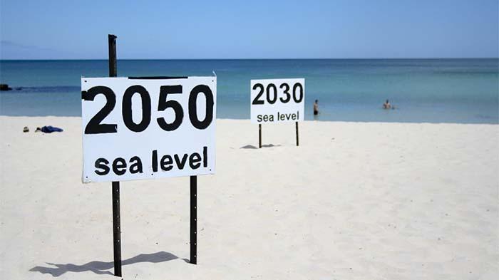 Skutkiem globalnego ocieplenia jest wzrost poziomu wszechoceanu