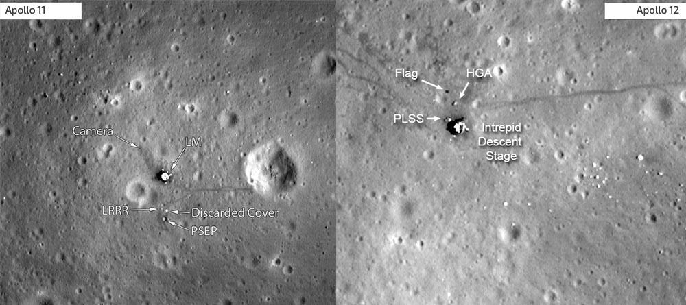 Ślady na Księżycu pozostawione przez program Apollo