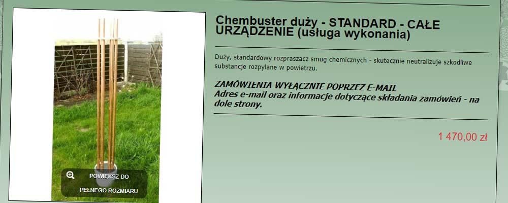 Chembuster przeciwko smugom chemicznym