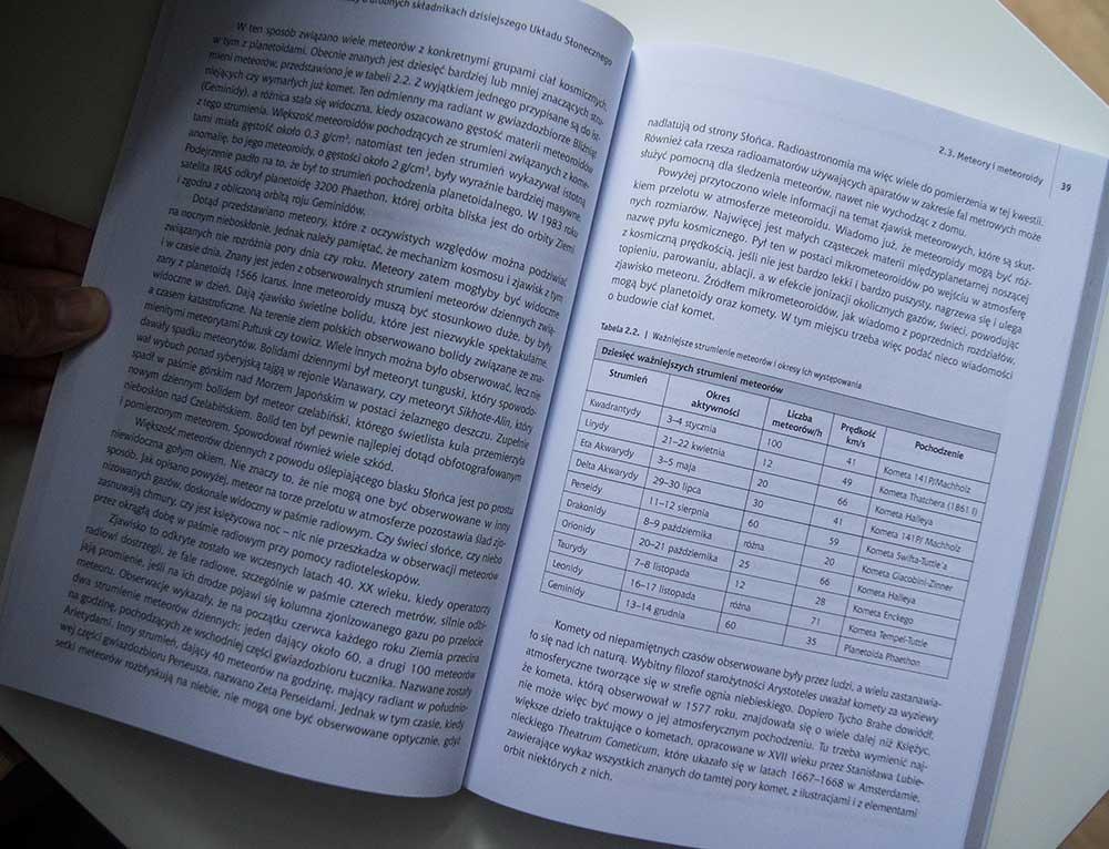 """Zawartość książki """"Meteory imeteoryty"""""""