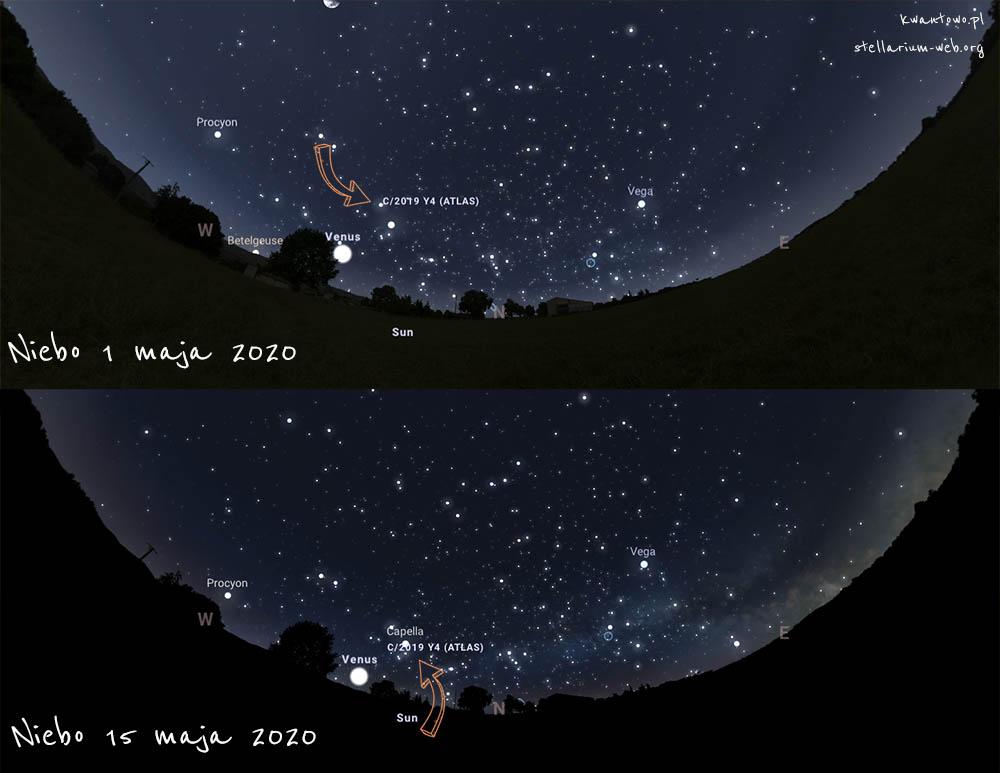 Kometa Atlas na polskim niebie