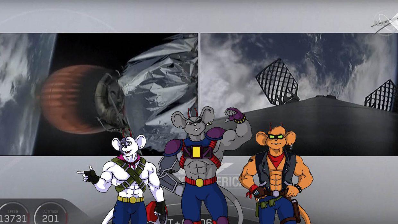 """Czym była """"mysz"""" towarzysząca misji Crew Dragona?"""