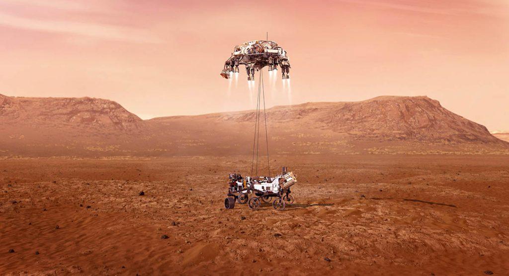 Lądowanie Perseverance na Marsie