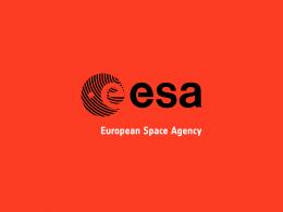Europejska Agencja Kosmiczna, news